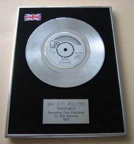 BAY CITY ROLLERS - REMEMBER Platinum Single presentation Disc